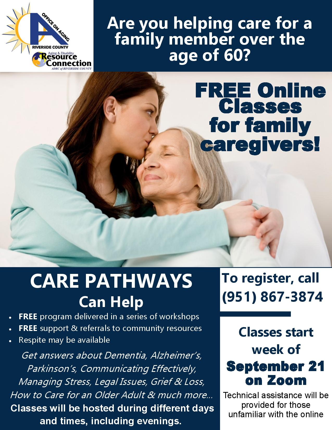 Care Pathways - Free online classes for family caregivers- September 2020-page-001