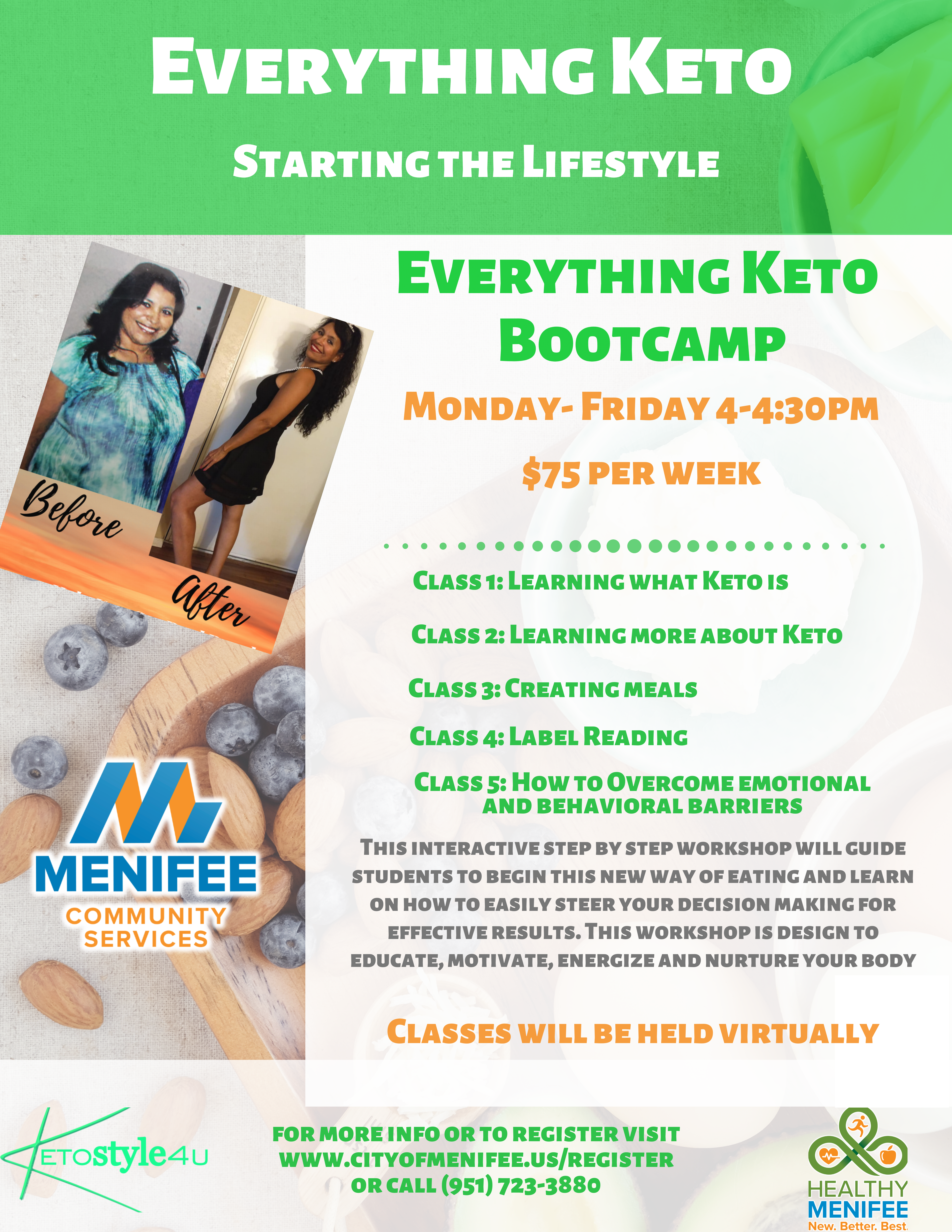 Everything Keto Program Flyer: Everything Keto Bootcamp Informational Course