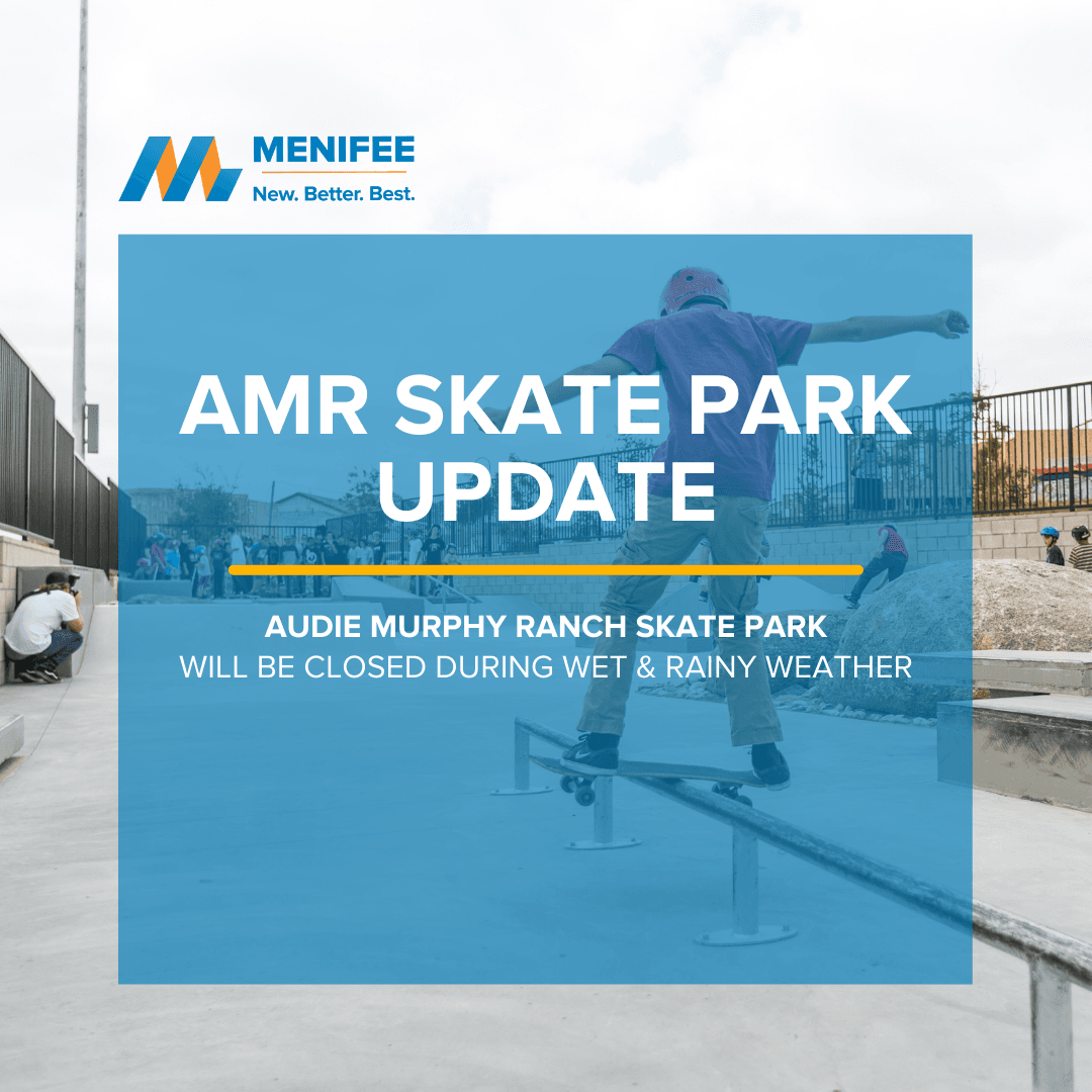 Skate Park Weather Closure Notice