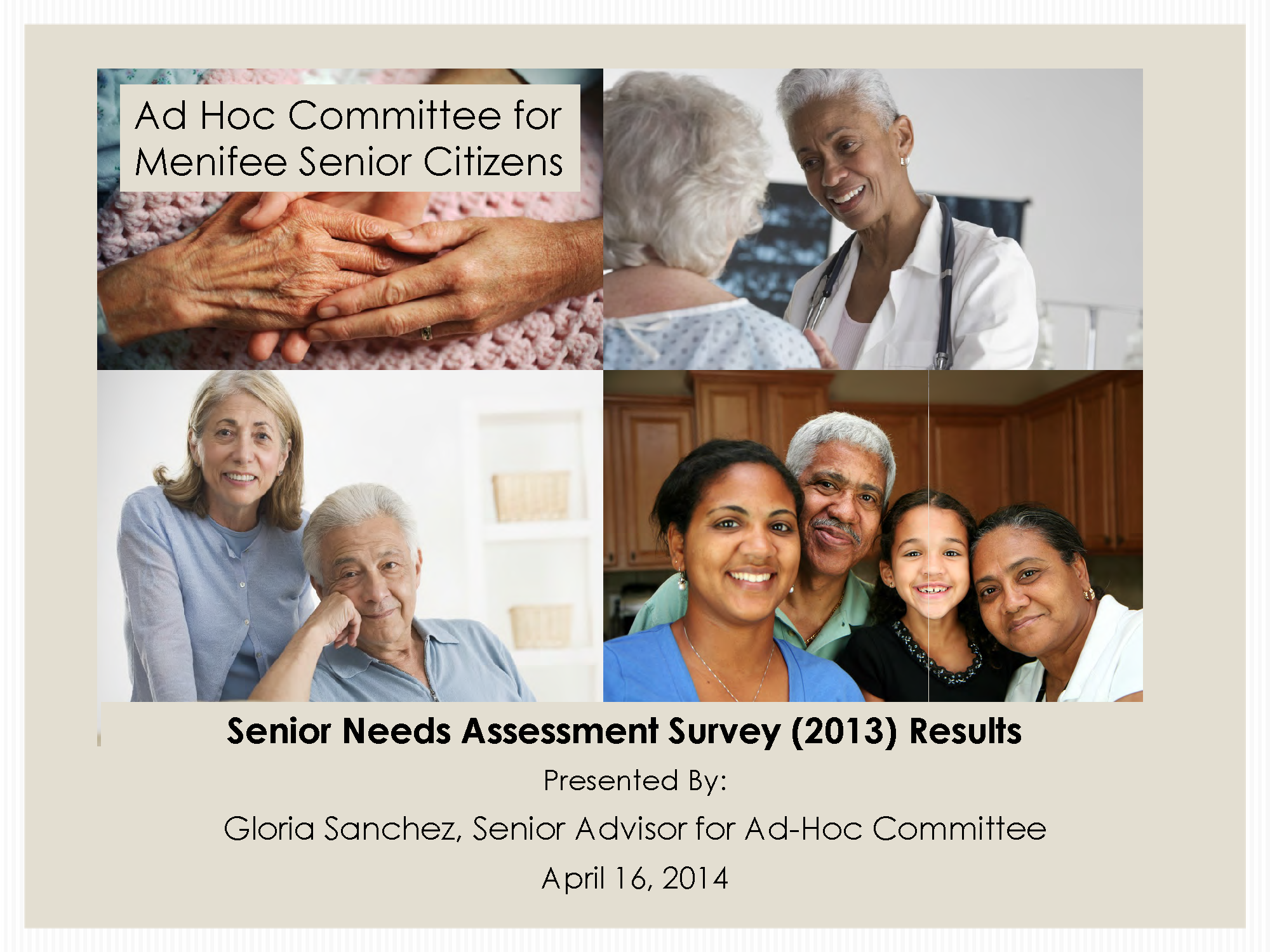 2013 Senior Needs Survey