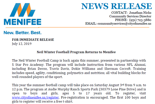 Neil Winter Football Camp screenshot