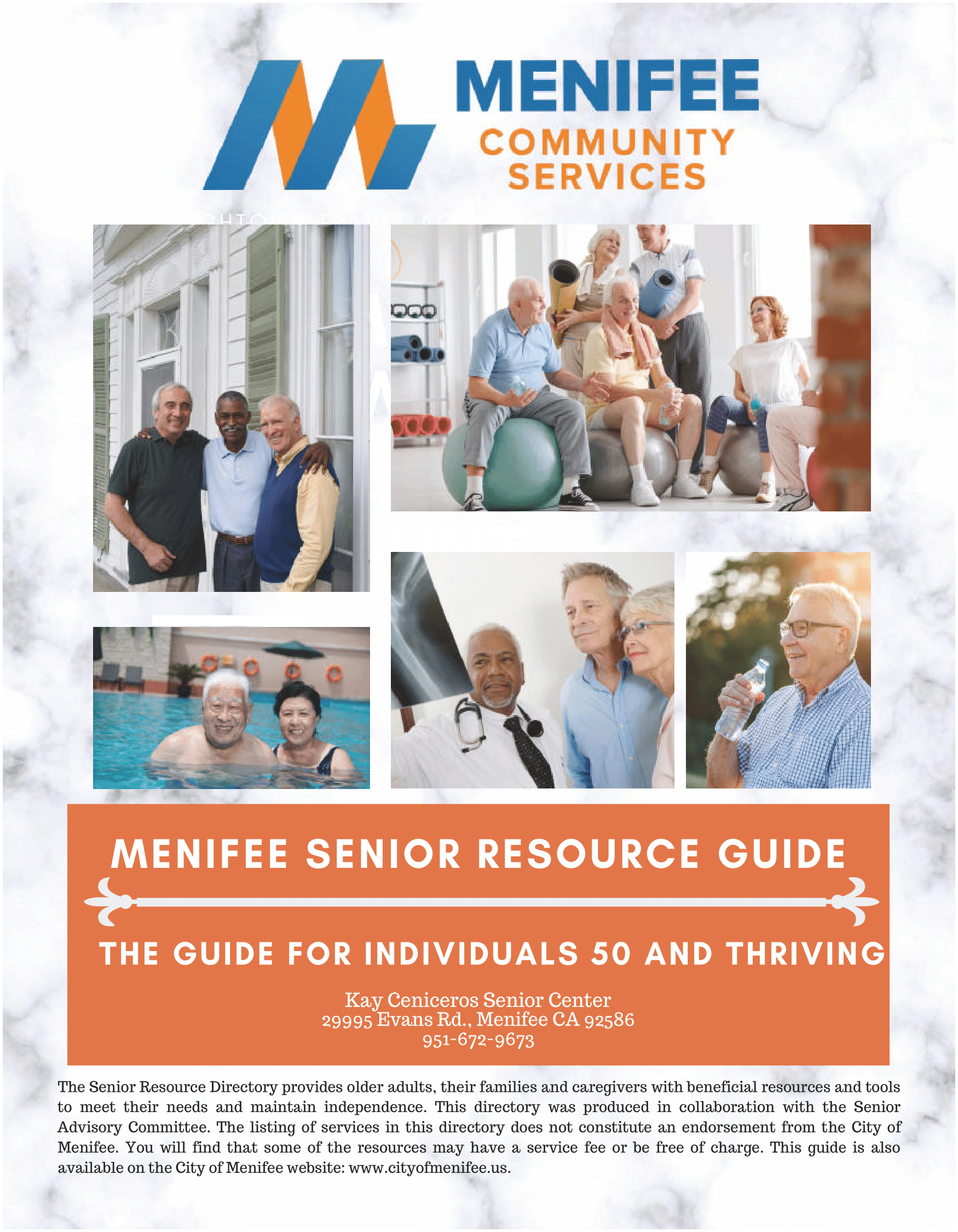 Menifee Senior Resource Directory 2020-Page 1 (A Guide for Individuals 50 and Thriving)