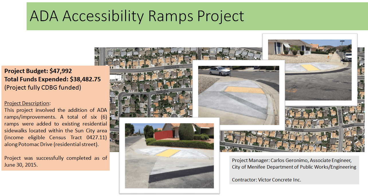 COMPLETED PROJ -ADA RAMPS